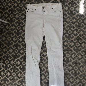 TALL jcrew matchstick straight leg white jeans